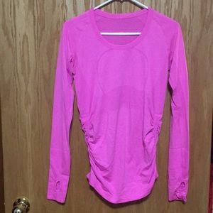 lululemon athletica Tops - Size 8 bright pink lulu lemon long sleeve